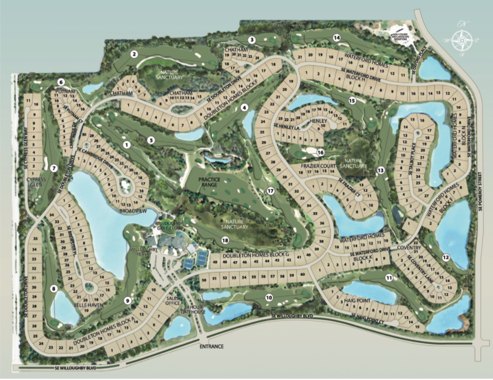 Willoughby Realty Community Plan Map Willoughby Golf Club, Stuart, Florida